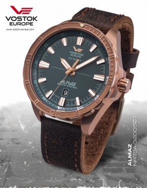 pánské hodinky Vostok-Europe ALMAZ bronze line NH35A 320O507 67c4a34cee