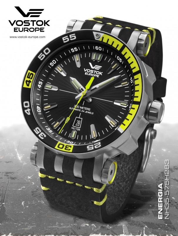 63eda238514 pánské hodinky Vostok-Europe ENERGIA Rocket Titanium line NH35 575H283