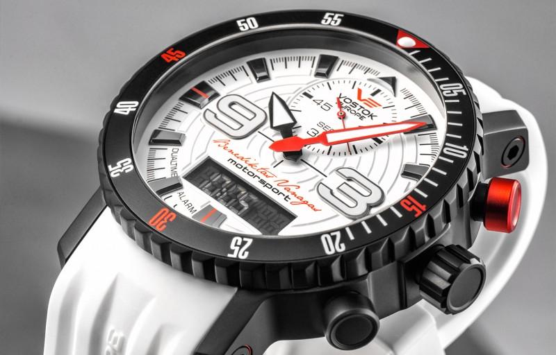 dd2229404b1 pánské hodinky Vostok-Europe Benediktas Vanagas white edition 9516 5554355